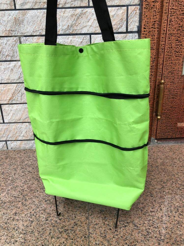 Eco-Friendly Reusable Foldable Shopping Bags with Wheels photo review